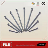 Black galvanized hardened steel concrete nail with high quality