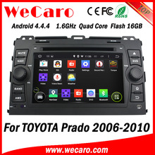 Wecaro Android 4.4.4 car stereo double din car dvd lcd for toyota prado 1.6 ghz cpu A9 cpu 2006 - 2010