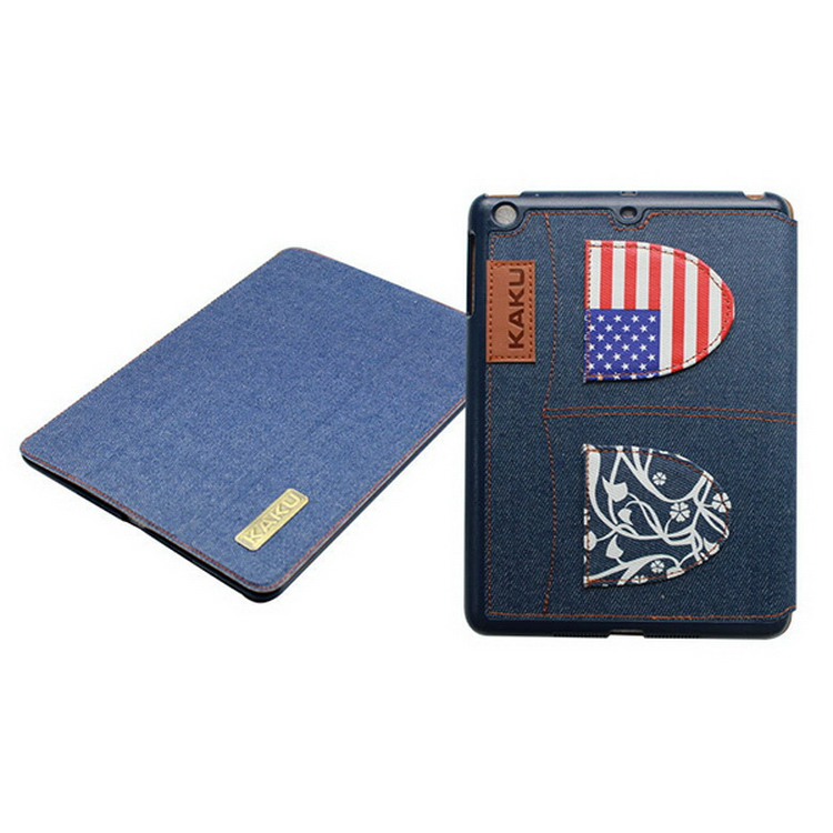 High quality classical smart cover leather case for ipad air