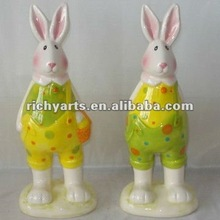 wholesale easter ceramic bunny figurine & ceramic rabbit figurine
