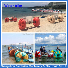 HDPE wheels aqua water bike pedal boats for sale with beach umbrella