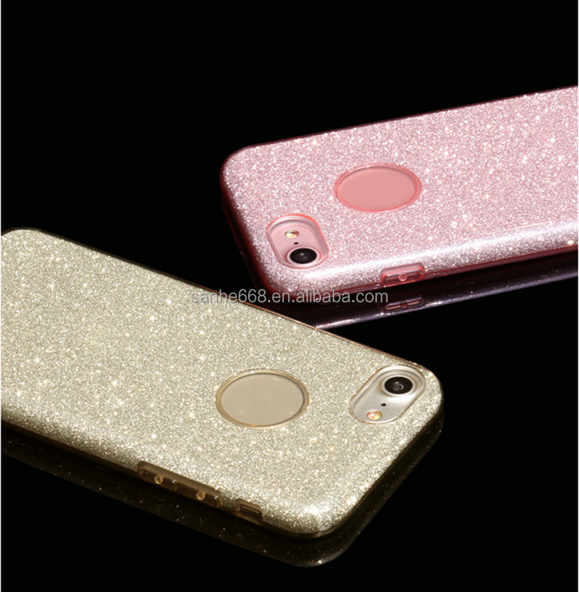 Fashion Phone Accessories Sparkling Shining Bling Glitter Cheap TPU Plastic Phone Case For iPhone 7 Case For iPhone 6 Case