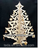 2016 custom carved wood crafts christmas decoration ornaments artificial wood Christmas tree