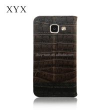 Outer crocodile pattern series printing with inner card slots and magnetic closure mobile flip case for Samsung a7