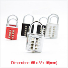 New style 8 bit key lock electroplated password lock for blind person