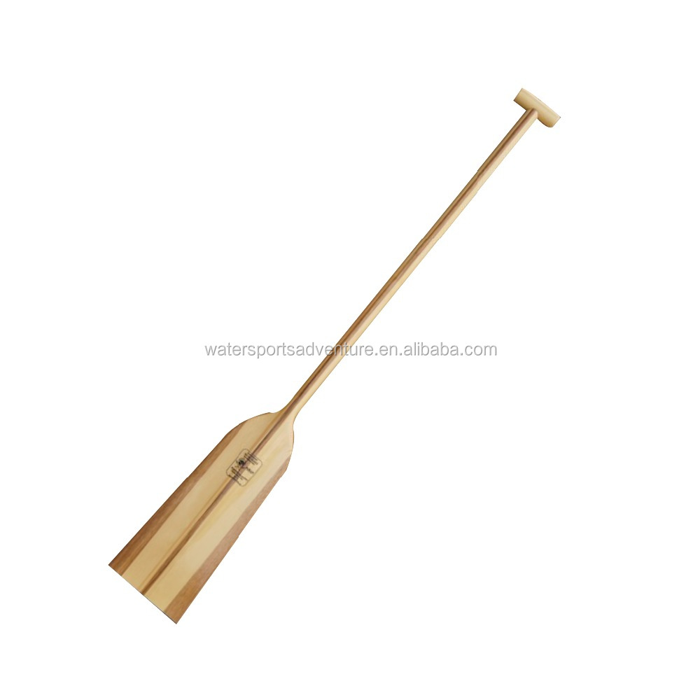Solid wood sport paddle manufacturer of wooden dragon boat paddle