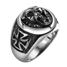 Factory Price Biker Stainless Steel Jewelry Cross Animal Shaped Ring For Men