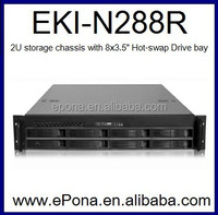 2U High Density Storage Server Chassis/PC Case EKI-N288R