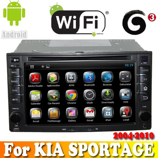 Dual Core android 4.2.2 touch sreen car dvd gps navigation for KIA SPORTAGE 2004-2010 car radio with bluetooth ipod tv wifi 3G