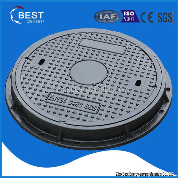 EN124 D400 550mm anti theft manhole cover