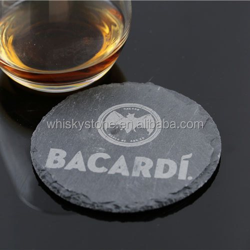 Beer used slate stone cup mat logo animal print coasters