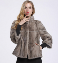 2017 hot-selling European-style Slim really sable fur jacket women's collar mink coat
