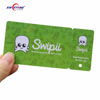 custom shape die cut plastic card for non-standard PVC card