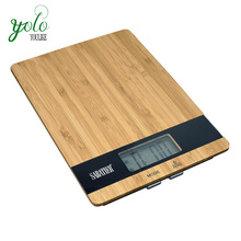 Bamboo Digital Kitchen and Food Scale with Tare Function