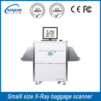 Small tunnel x ray baggage scanner machine with x-ray for the airport