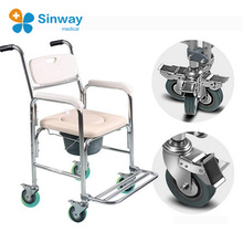 Careful Folding toilet chair for patient toilet chair and Disabled toilet chair