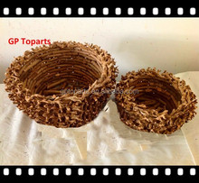Wicker/Rattan/Bird Nest Baskets/bread - Gift Bowls/Crafts/Serving/Collection