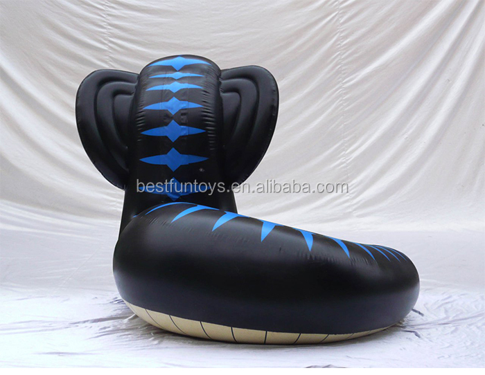 pvc inflatable large snakes plastic cobra toys advertising pvc giant black animals display