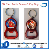 3D Printing Santa Claus Design Bottle Opener Key Ring For Promotional Gift