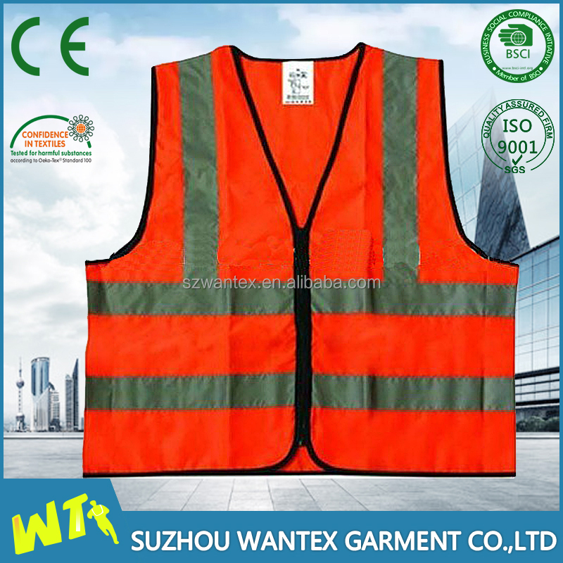 high quality safety reflective vest wholesale working uniform hi vis safety working vest