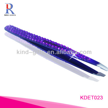 Beautiful Girls Bling Crystal Extra Long Tweezers