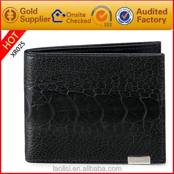 China supplier mens designer leather branded wallets purse