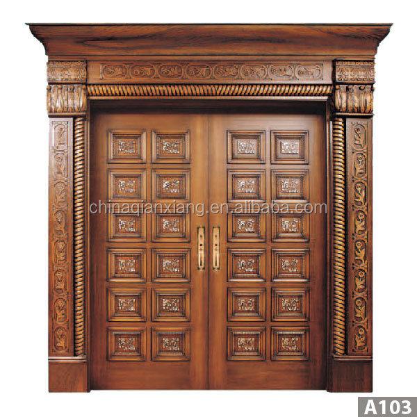 Best Price Luxury Carved Solid Wood Door Exterior Solid Wood ...