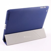 new patented products flip leather minion case for ipad 2 3 4