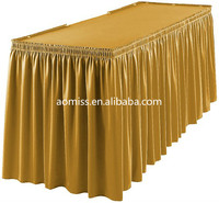 burlap ruffled table skirt pleated table skirt steps in table skirting