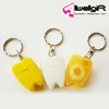 15m tooth shape dental thread keychain fresh up plastic toothpicks dental floss picks