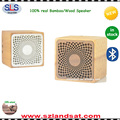 custom laser engraving real wood speaker for iphone ipad tablet pc BSW21