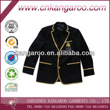 New design satin piping colleage boy club varsity blazer
