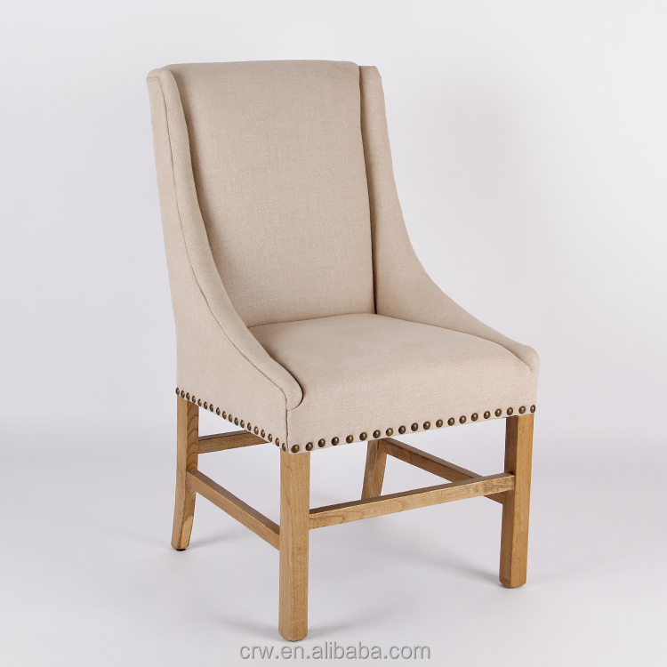 Luxury dining chair with armest fabric dining chair