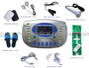 Low Frequency digital electrical physical therapy equipment used with ultrasound and laser funciton