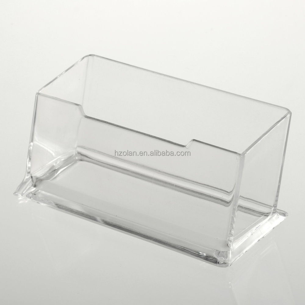 Clear Desktop Business Card Holder Display Stand