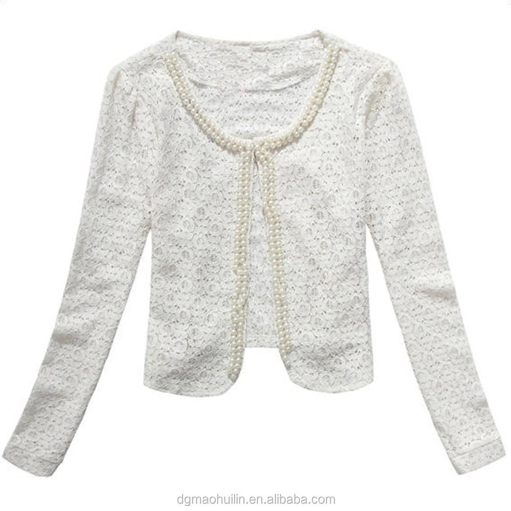 2015 white sleeve beaded lace bolero jackets