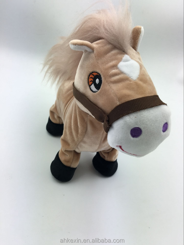 Wholesale musical electric walking horse animal plush toy