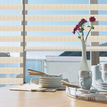 Heat insulation manual zebra blinds double vision