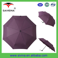 Guangdong Shenzhen cheap umbrella with pongee fabric 3 folding umbrella for adults