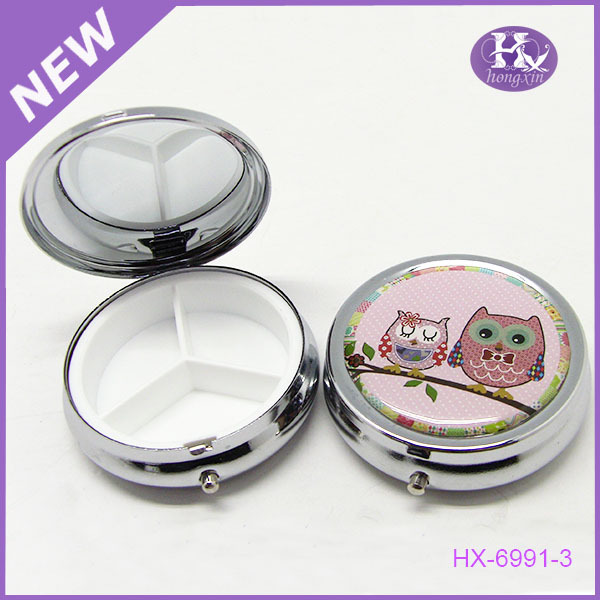 HX-6991-1 Hot sale funny tin pill box canada