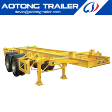 China Skeleton semi trailer for 20ft container chassis from manufacturer on sale Dai