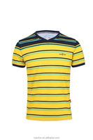 black and yellow branded casual short sleeve t shirt