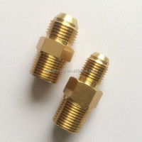 Oil cooler adapter fittings, brass oil nipple