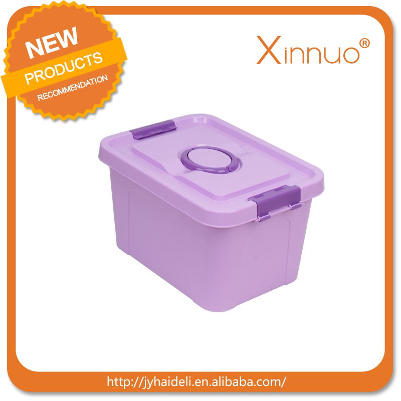 Useful round plastic storage container with lid