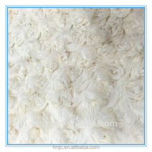 100% polyester 3mm long PV plush toy fabric