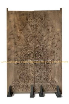 Wood Door Carving (Old Teak Wood )