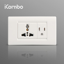Universal Adapter Double Wall Mounted Power Electrical Outlets