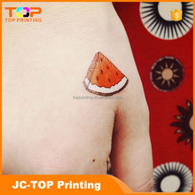Promoted Temporary body tattoo sticker