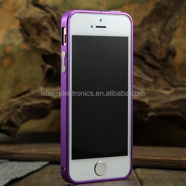 2014 Hot selling Ultra Slim Thin 0.7 mm Metal Aluminum Bumper Frame Case For apple iphone 5S