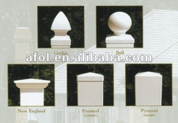 American style cap for PVC fence fence post cap